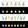 Christmas light lamps strings of Stock Image