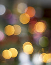 Christmas lights background warm colored blurred Stock Images