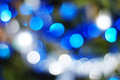 Christmas lights background warm colored blurred Royalty Free Stock Photography