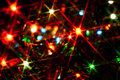 Christmas lights closeup shiny star Stock Photography