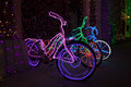 Christmas lights at disney s hollywood studios bicycles look beautiful the osborne family spectacle of dancing light display in Royalty Free Stock Photos