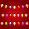 Christmas Lights - electric bulbs strung