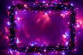 Christmas lights frame backdrop Royalty Free Stock Photos