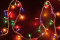 Christmas lights garland colorful background Stock Photography