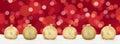 Christmas lights golden balls banner decoration background copys Royalty Free Stock Photo