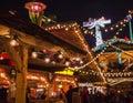 Christmas lights in London, winter 2018 - Winter Wonderland. Royalty Free Stock Photo