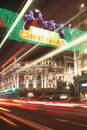 Christmas lights at Oxford Circus Stock Images