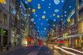 Christmas lights on Oxford Street, London Royalty Free Stock Photo