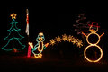 Christmas Lights - Penguin, Snowman, Tree Royalty Free Stock Photo