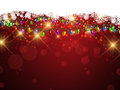 Christmas lights and snowflakes background Royalty Free Stock Image