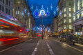 Christmas lights on the strand london uk th december which forms part of northbank business improvement district in is decorated Stock Images