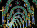 Christmas lights tunnel Royalty Free Stock Photo