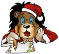 Christmas Lion Stock Image