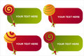 Christmas lollipops banners Stock Photography