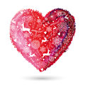 Christmas love heart arty greeting card Royalty Free Stock Photo