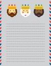 Christmas Magi letter head Royalty Free Stock Photo
