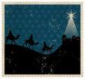 Christmas Magi Stamp Royalty Free Stock Photo