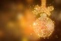 Christmas magic sparkle glitter bauble - xmas background Royalty Free Stock Photo