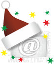 Christmas mail illustration of email sign as theme Stock Images