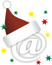 Christmas mail illustration of email sign as theme Royalty Free Stock Image