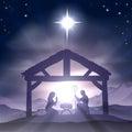 Christmas Manger Nativity Scene Royalty Free Stock Photo