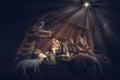Christmas Manger scene. Royalty Free Stock Photo