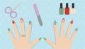 Christmas manicure gel polish Royalty Free Stock Photo