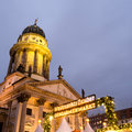 Christmas market in berlin on gendarmenmarkt with the dome Stock Image