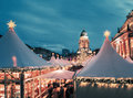 Christmas market in berlin toned image text space chtristmas square composition Royalty Free Stock Images