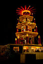 Christmas market in Dortmund, Germany, with pyramid Royalty Free Stock Photo