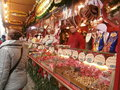 Christmas market in dresden on altmarkt square germany Stock Photo