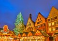 Christmas market in frankfurt december traditional the historic center of germany on december the very first Royalty Free Stock Photography