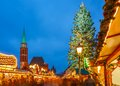 Christmas market in frankfurt traditional the historic center of germany Royalty Free Stock Images