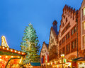Christmas market in frankfurt traditional the historic center of germany Stock Photography