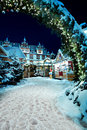 Christmas market by night in coburg germany Stock Photos