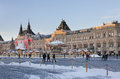 Christmas market on red square moscow and new year Royalty Free Stock Photography