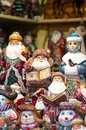 Christmas Market in Red Square, Moscow. Sale of toys, famous and popular fairy-tale characters, figurines Royalty Free Stock Photo