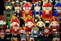 Christmas Market in Red Square, Moscow. Sale of toys, famous and popular fairy-tale characters, figurines. Nutcracker Royalty Free Stock Photo