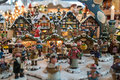 Christmas market small village in a little house and small wooden people Stock Photography