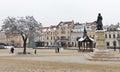 Christmas Market square in Rzeszow, Poland.