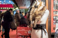Christmas Market Stall, Fur Clothes & Accessories.