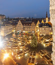 Christmas market in tallinn estonia january illuminated the evening the old town of on january Royalty Free Stock Photography