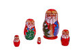 Christmas Matryoshka Dolls Royalty Free Stock Photo