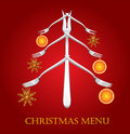 Christmas menu. Stock Image