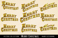 Christmas Menu Banner Card lettering Royalty Free Stock Photos