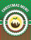 Christmas Menu template Stock Photos