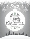 Christmas message design easy editable Stock Photo