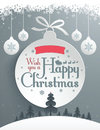 Christmas message design easy editable Royalty Free Stock Photo