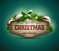 Christmas message vector realistic illustration of wooden board elements are layered separately in vector file easy editable Stock Images