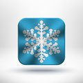 Christmas metal snowflake icon Royalty Free Stock Photos